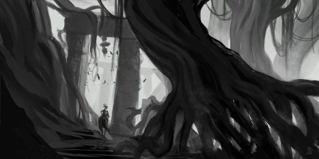 concept art arbre et porte